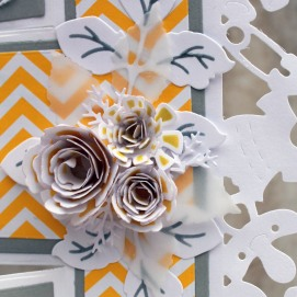Yellow Gray Baby Shower Flowers - Copy