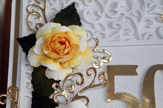 50th Anniversary Yellow Rose close up