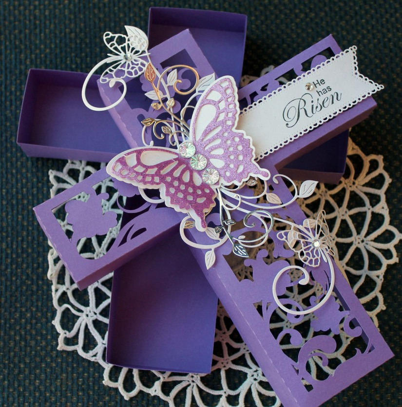 butterfly corss box open