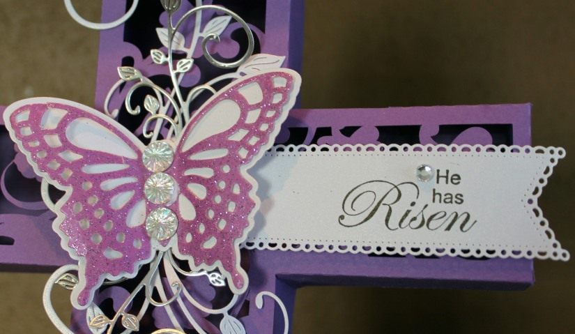 butterfly cross box glitter butterfly close up