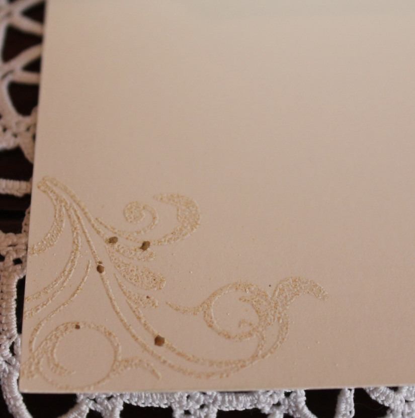 cream sympathy inside embossing