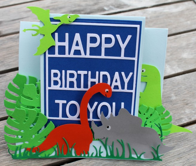 Dino card front