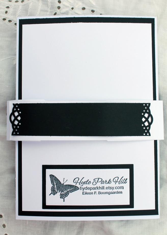 Wedding Black and White Gatefold Backside
