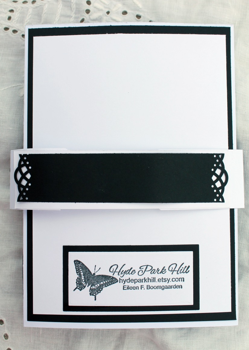 Wedding Black and White Gatefold Backside