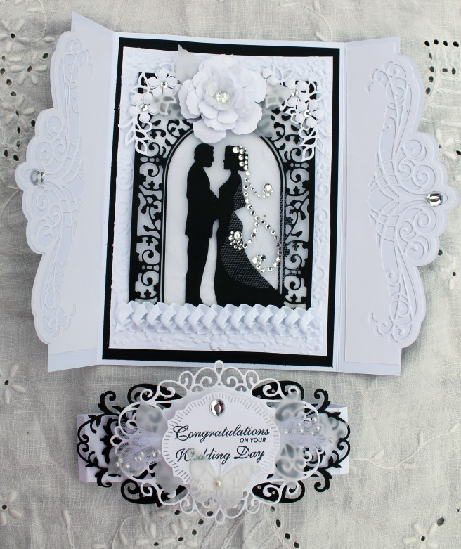 Wedding Black and White Gatefold Open