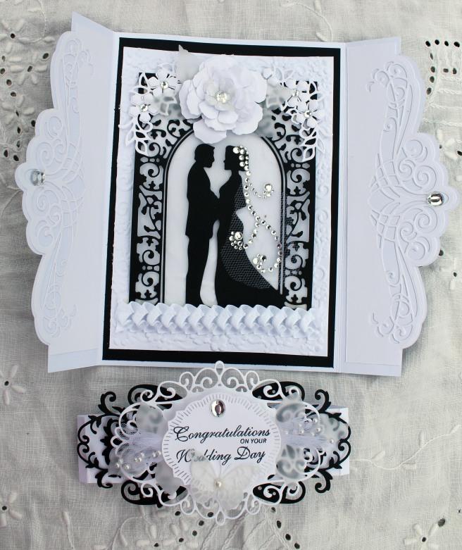 Wedding Black and White Gatefold Open