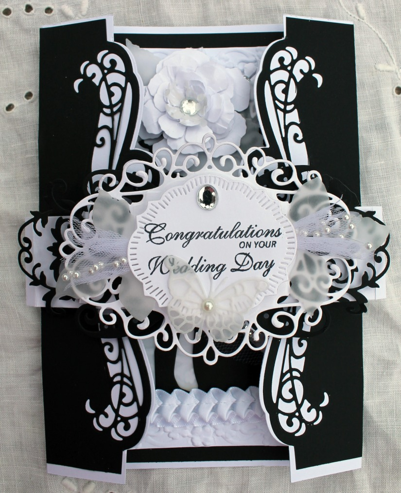 Wedding Black and White Gatefold with band wrap