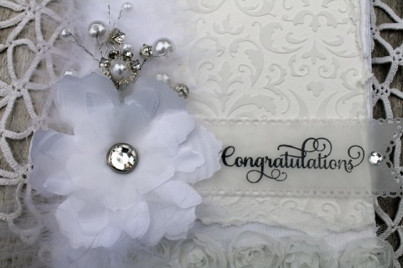 wedding satin flower
