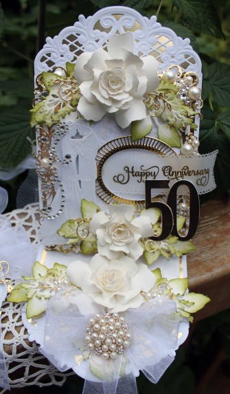 50th anniversary Easel card full front