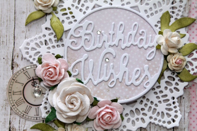 birthday wishes pink and white close up 2