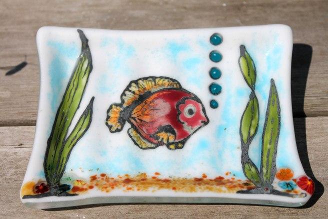 fish soap dish front
