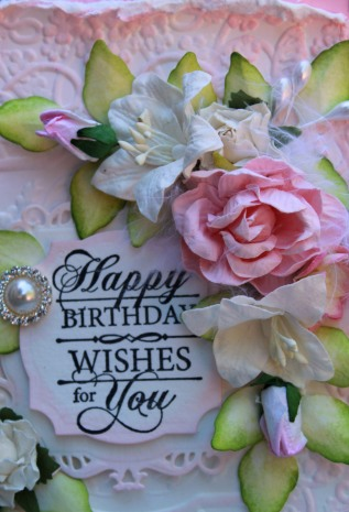 Pink HB close up flowers sentiment