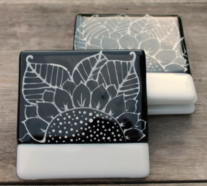 4 doodle coasters stack