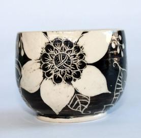 doodle flower vase clear inside