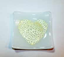 white silver heart jumpin dish