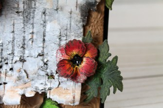 birch bark poppy close up flower