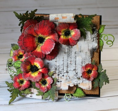 birch bark poppy full front