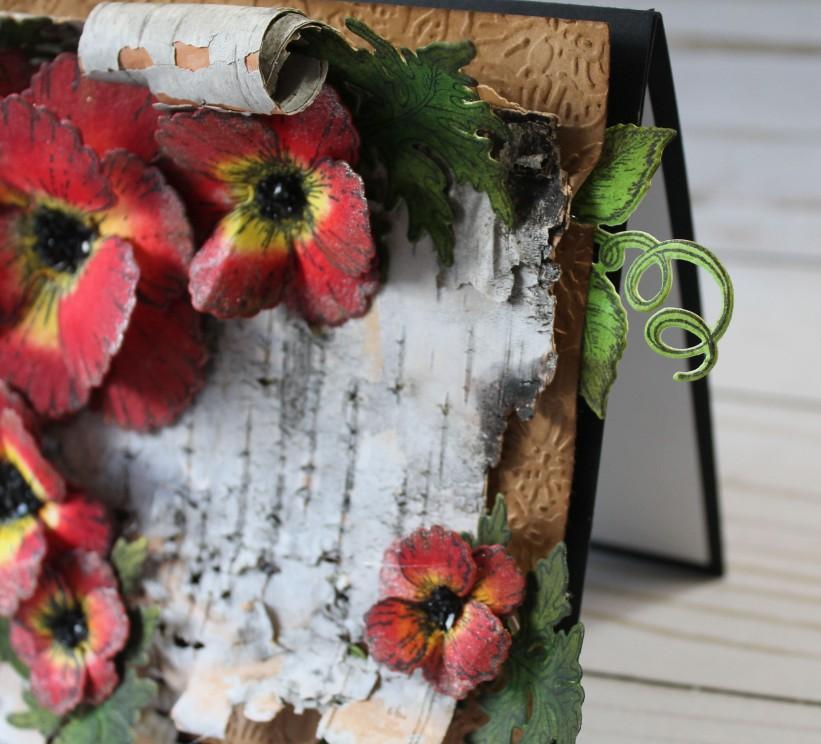 birch bark poppy side view