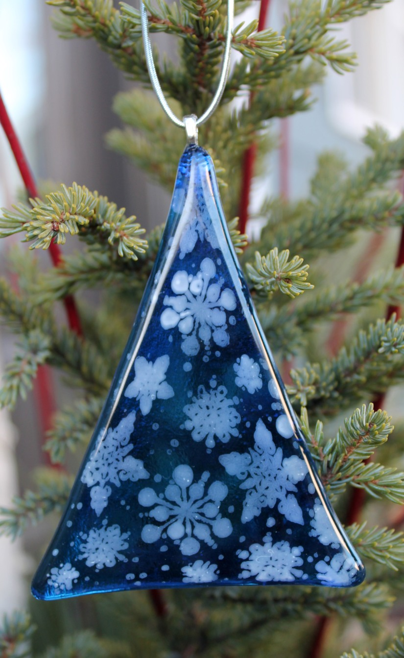 snowflake tree blue