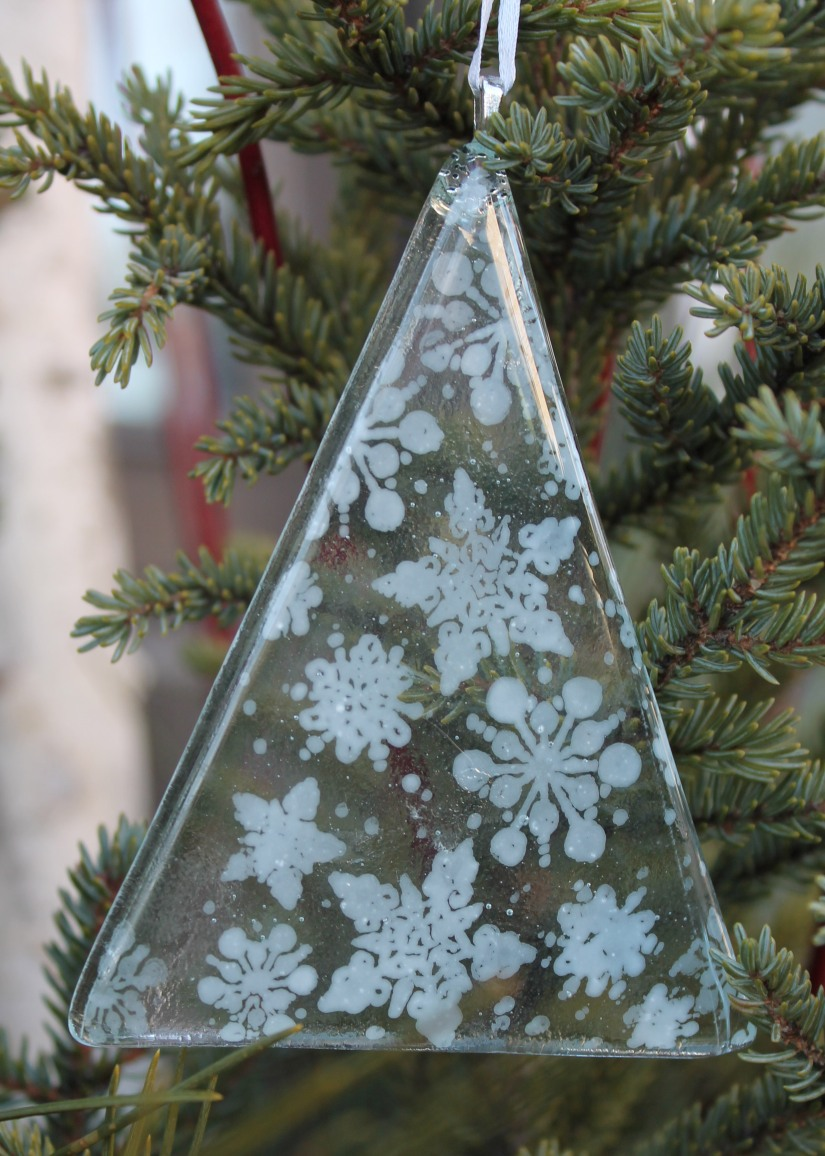 snowflake tree clear glass 2