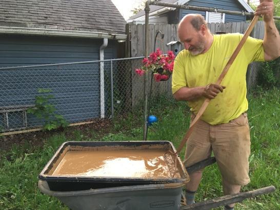 soaking the clay